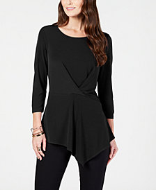 Alfani Solid Twist Top, Created for Macy's