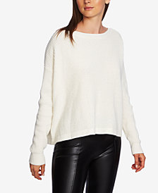 1.STATE V-Back Lace-Up Sweater