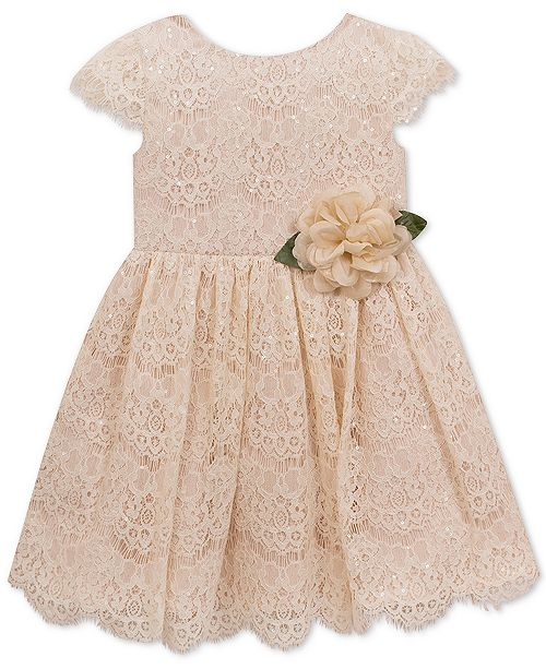 d9c2dabd020a Rare Editions Baby Girls Sequin Lace Fit & Flare Dress & Reviews ...