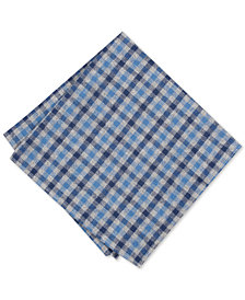 Bar III Men's Elwood Check Pocket Square, Created for Macy's