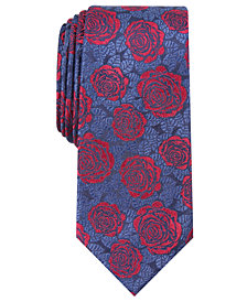 Bar III Men's Renner Floral Skinny Tie, Created for Macy's