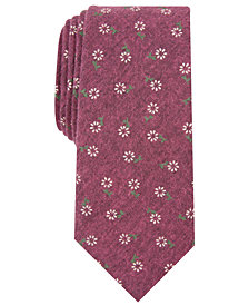 Bar III Men's Bryant Skinny Floral Tie, Created for Macy's