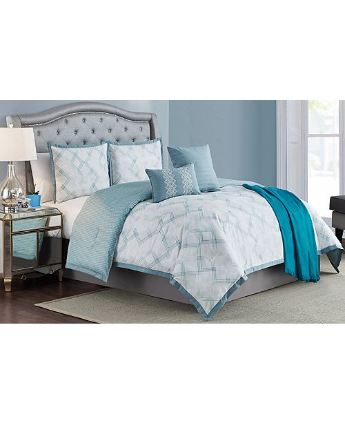 Cathay Home Inc. Ellen Tracy Berlin 6-Piece Full Comforter Set