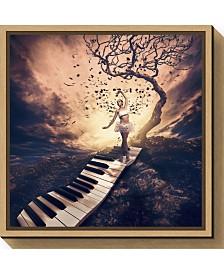 Amanti Art Rhapsody by Jackson Carvalho Canvas Framed Art