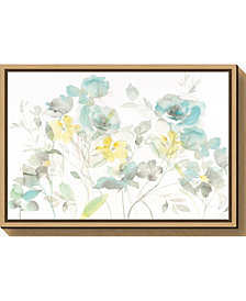 Amanti Art Aqua Roses Shadows by Danhui Nai Canvas Framed Art