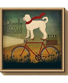 Amanti Art White Doodle on Bike Summer by Ryan Fowler Canvas Framed Art