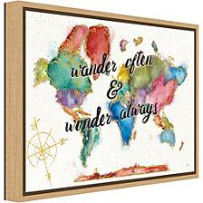 Amanti Art Colorful World I by Jess Aiken Canvas Framed Art
