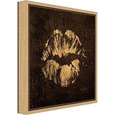 Amanti Art Shoe Fetish Quotes VIII Dark: Lips by Emily Adams Canvas Framed Art
