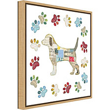 Amanti Art Good Dog IV Sq with Border by Courtney Prahl Canvas Framed Art