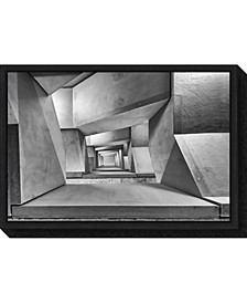 downstairs by Guy Goetzinger Canvas Framed Art