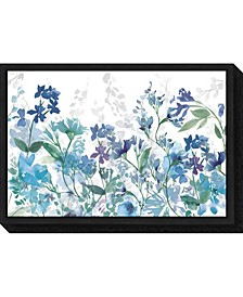 Colors of the Garden Cool Shadows Canvas Framed Art