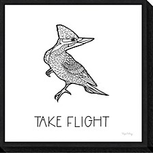 Color the Forest XII Take Flight by Elyse Deneige Canvas Framed Art