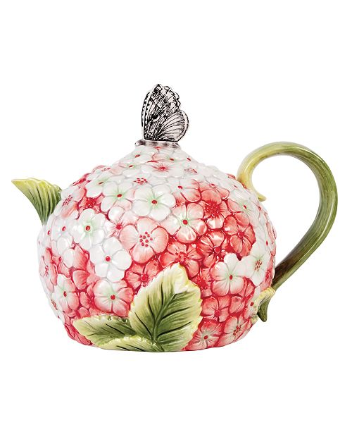 Edie Rose by Rachel Bilson CLOSEOUT! Serveware, Hydrangea Teapot