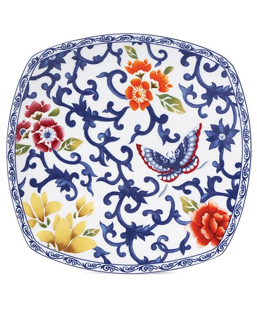 Dinnerware Mandarin Blue Square