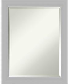 Amanti Art Brushed Sterling 22x28 Bathroom Mirror