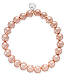 Silver-Tone Pink Imitation Pearl Bracelet, Created for Macy's