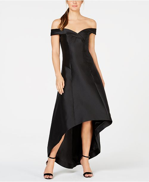 cff299ceebac Calvin Klein Off-The-Shoulder High-Low Gown   Reviews - Dresses ...