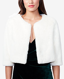 Betsey Johnson Faux-Fur Shrug