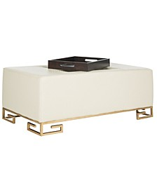 Julian Faux Ostrich Tray Ottoman/Coffee Table