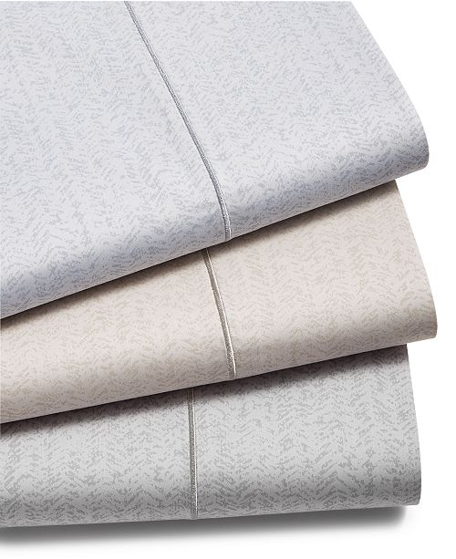 Hotel Collection Closeout Herringbone Cotton 525 Thread Count Sheet Set Created For Macy S 5 Reviews