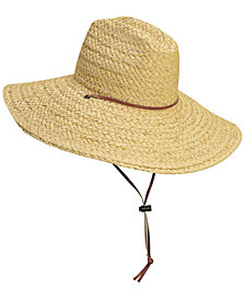 Dorfman Pacific Men's Raffia Lifeguard Hat