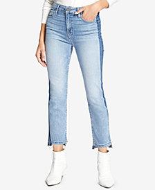 Sanctuary Colorblocked Cropped Step-Hem Jeans