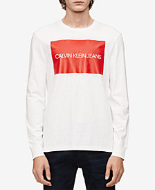 Calvin Klein Jeans Men's Long-Sleeve Boxed Logo T-Shirt