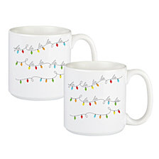 Cathys Concepts Fa La La Large Coffee Mugs, Set of 2