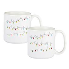 Cathys Concepts Fa La La Large Coffee Mugs, Set of 2