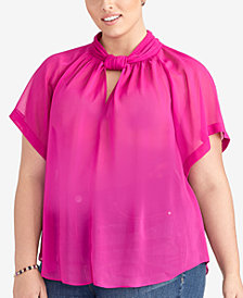 RACHEL Rachel Roy Plus Size Keyhole Top, Created for Macy's