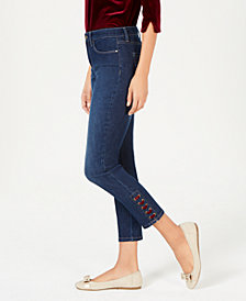 Charter Club Lace-Up Jeans, Created for Macy's