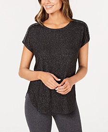 I.N.C. Metallic-Trim Pajama Top, Created for Macy's