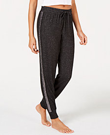 I.N.C. Metallic-Trim Jogger Pajama Pants, Created for Macy's