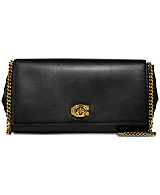 COACH Alexa Turnlock Clutch in Smooth Leather