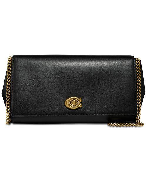 7f7406453481 COACH Alexa Turnlock Clutch in Smooth Leather   Reviews - Handbags ...
