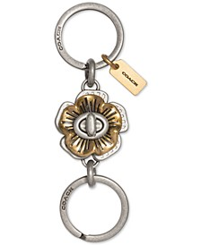 Tea Rose Turnlock Keychain