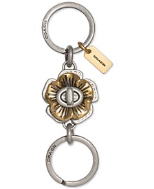 COACH Tea Rose Turnlock Keychain