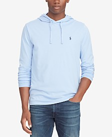 Polo Ralph Lauren Men's Big & Tall Hooded Long-Sleeve Cotton T-Shirt