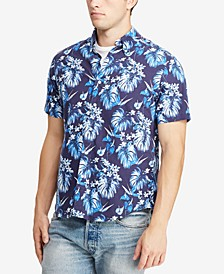 Men's Big & Tall Classic Fit Floral-Print Cotton Shirt