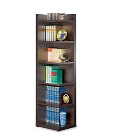 Louie Transitional Corner Bookcase