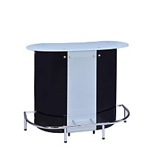 Spencer Contemporary Frosted Glass Top Bar Unit
