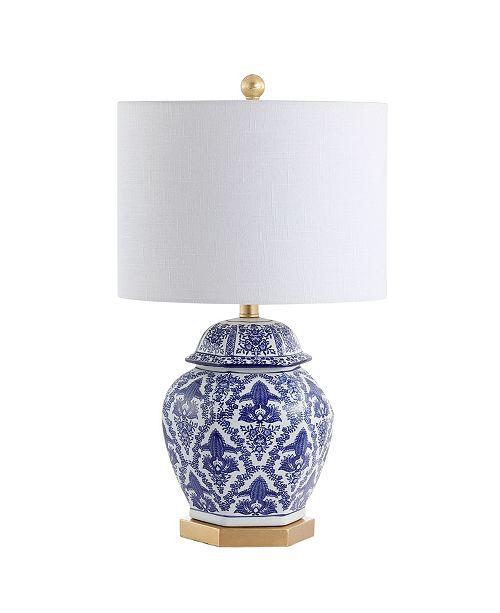"JONATHAN Y Gretchen 25"" Ginger Jar Ceramic,Metal LED Table Lamp"