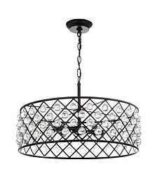 "Gabrielle 23"" Crystal,Metal LED Pendant Oil-Rubbed"