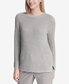 Calvin Klein Metallic Ribbed-Knit Sweater