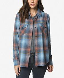 O'Neill Juniors' Hansen Cotton Plaid Shirt