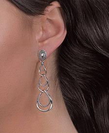 Carolyn Pollack Triple-Loop Sterling Silver Dangle Earrings