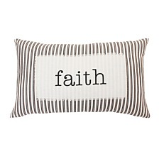 "Thro Polyester Fill Blair Faith Ticking Stripe Pillow, 16"" x 26"""