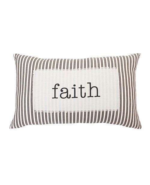 """THRO Polyester Fill Blair Faith Ticking Stripe Pillow, 16"""" x 26"""""""