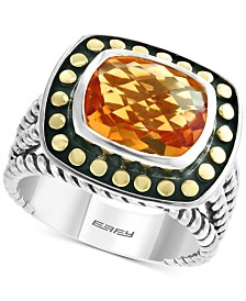 EFFY® Citrine Statement Ring (3-1/4 ct. t.w.) in Sterling Silver & 18k Gold