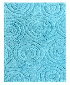 Circles 24x40 Cotton Bath Rug